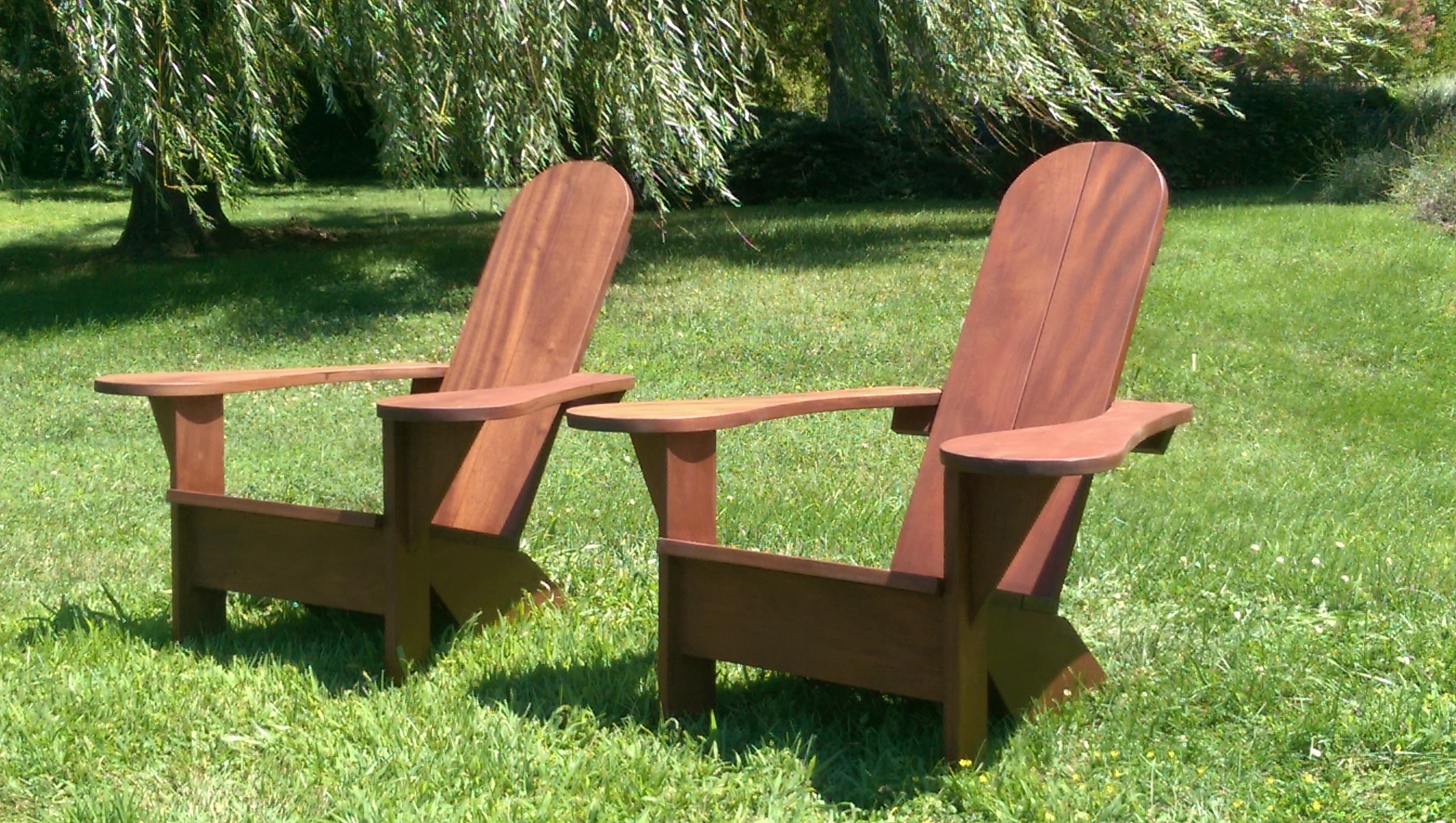 Chesapeake Chairs made from Sapele